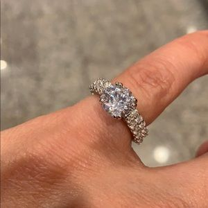 2pc Engagement Ring and Wedding Band size 5